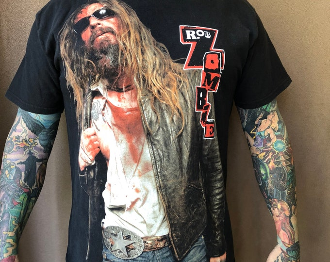 Rob Zombie Bandshirt - (Sz-Large) Horror white zombie devils rejects Band Tee Halloween White Zombie John5 Marilyn Manson  Metalhead  Metal