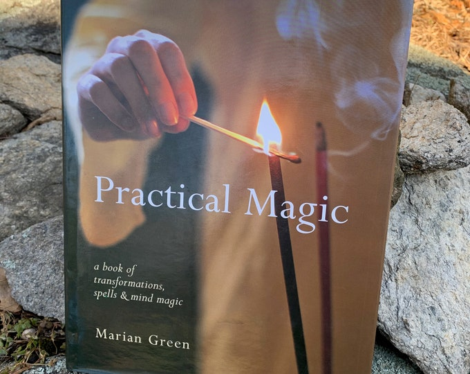 Hardcover Practical Magic Book Witch Occult Tarot Crystals Witchy Salem Goth Gothic Sorcerer Hex Pagan Halloween Witchcraft Paganism Coven