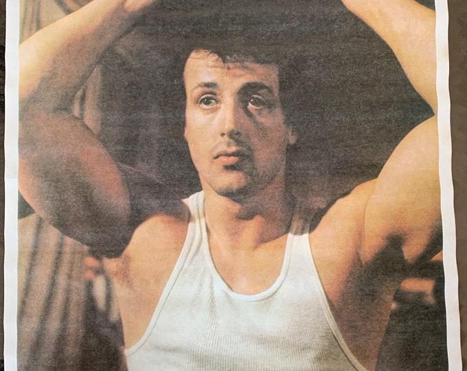 Rare Vintage Rocky Balboa Poster Burgess Meredith Apollo Creed Boxing Sylvester Stallone TKO Micks Gym Fitness Cardio Sparring Boxer