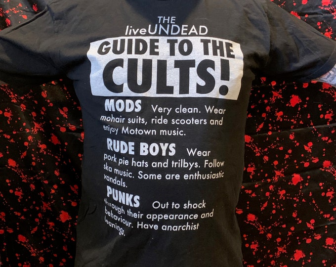 Cults Band Shirt (L) Pete Townshend The Kinks British Invasion Eric Clapton Rod Stewart The Who Rude Boy Mods Rude Boys Punks The Specials