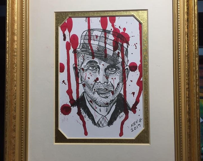 Ed Gein Serial Killer Original Art Work Blood Gore Crime Texas Chainsaw Massacre Gorewhore Serial Killers True Crime Ted Bundy Gacy Dahmer