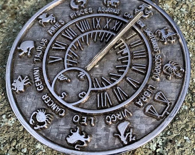 Vintage Sterling Silver TORTOLANI Zodiac Pendant - Horoscope - Eclectic Jewelry - Celestial Design Retro jewelry