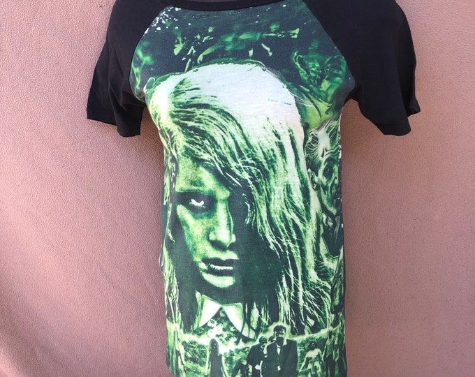 Night of the Living Dead  Zombies Tee - Ladies Small George Romero Dawn of the Dead horror Movies Walking Dead Zombies Zombie Zombieland