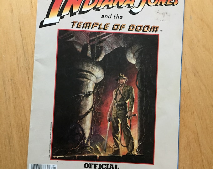 Indiana Jones Temple of Doom Softcover Book - 1984 Raiders of the Lost Ark Harrison Ford Adventure George Lucas Steven Spielberg Poltergeist