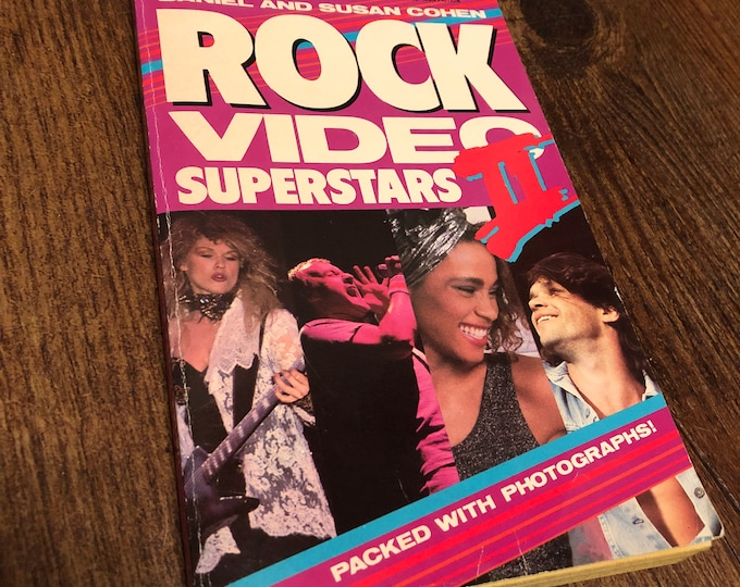 Vintage MTV Paperback Video Superstars 1987 Teen Idol Phil Collins Whitney Houston The Monkees John Mellencamp VH1 Tears For Fears Mr Mister