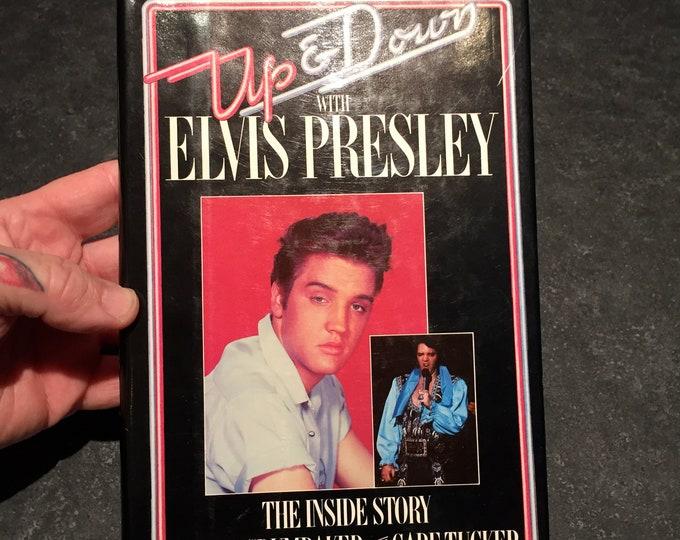Vintage Ups and Downs with Elvis Presley Hardcover Book 1981 -  ELVIS Graceland Memphis Viva Las Vegas Jailhouse Rock Heartbreak Hotel books