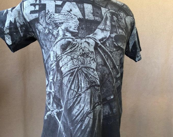 Metallica Band Shirt (M) And Justice for All shirt ALL OVER PRINT Kirk Hammett Cliff Burton James Hetfield Lars Ulrich ffdp Megadeth Pantera