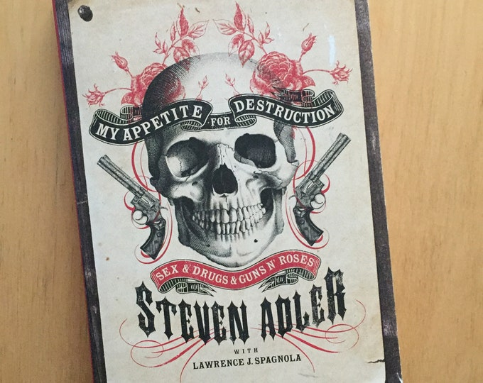 Steven Adler Guns N Roses Hardcover Book - My appetite for Destruction Drums Slash Axl Rose Drumming drummer drug addiction Rehab Metalhead