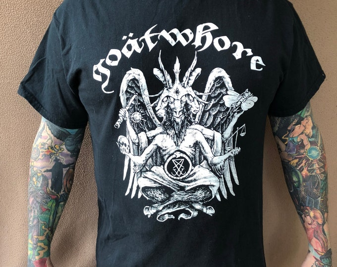 Goatwhore Black Metal Bandshirt - Sz Large Baphomet Metal Band Tee Metalhead Cattle Decapitation Acid Bath Dying Fetus  Skeletonwitch Slayer