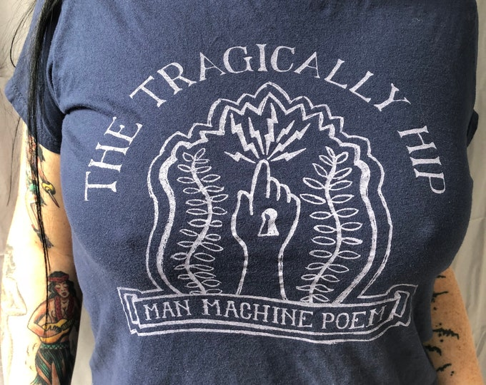 The Tragically Hip - Man Machine Poem - Gordon Downie - Canadian Band Tee Large band tee band shirt Canada Road Apples Courage