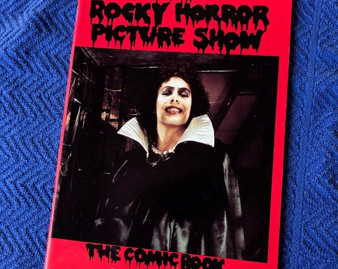 1990 Vintage Rocky Horror Picture Show Comic Book RHPS Tim Curry Cult Classic Richard OBrien Frank N Furter Meatloaf Barry Bostwick LBGT