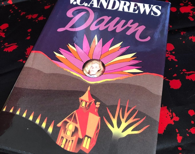 Vintage 1st Edition VC Andrews Dawn Hardcover - Flowers in the Attic - Petals on the Wind  Horror Witchcraft Gothic Mystery