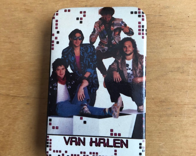 Vintage VAN HALEN Pin Badge Pinback Collectibles Pins Eddie Van Halen Sammy Hagar Chickenfoot Van Hagar Motley Crue Aerosmith Guns N Roses
