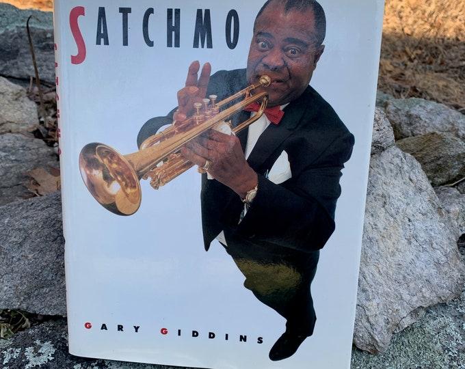 Satchmo 1988 Louis Armstrong Hardcover Book Jazz Miles Davis John Coltrane Charlie Parker Freddie Hubbard Chet Baker Duke Ellington Al Hirt