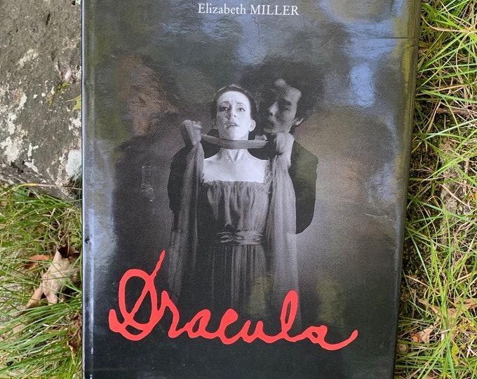Vintage Huge Dracula Hardcover Book by Ezizabeth Miller Horror Nosferatu Vampire Frankenstein Mummy Boris Karloff Lon Chaney Bela Lugosi