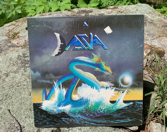 Asia Self Titled Album - 1982 Vintage Vinyl Record LP John Wetton,Steve Howe Geoff Downes Carl Palmer Bill Bruford King Crimson YES UK Prog
