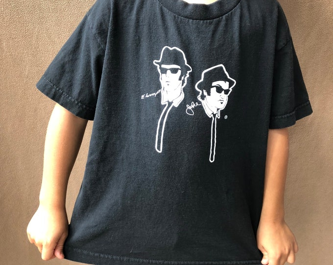 Blues Brothers (Kids Med) Kids clothes  Childrens clothes Band shirt Tour Shirt John Belushi Dan Aykroyd Aretha Franklin Ray Charles SNL