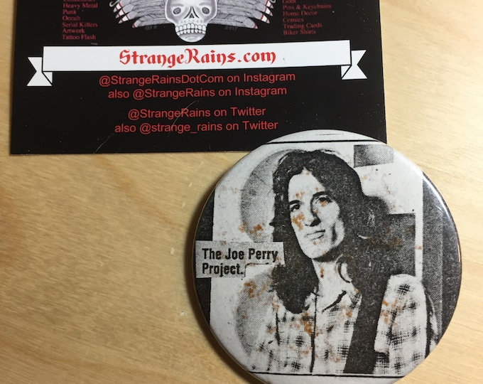 Joe Perry Project  Pin Badge Aerosmith Boston Toxic Twins Toys in the Attic Dream On Joe Perry Brad Whitford Charlie Farren David Hull Strat