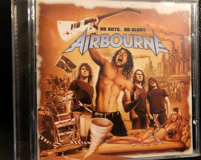 AIRBOURNE CD No Guts No Glory Sabaton Steel Panther Hammerfall Blind Guardian Children Of Bodom Volbeat Twisted Sister Thin Lizzy Avantasia