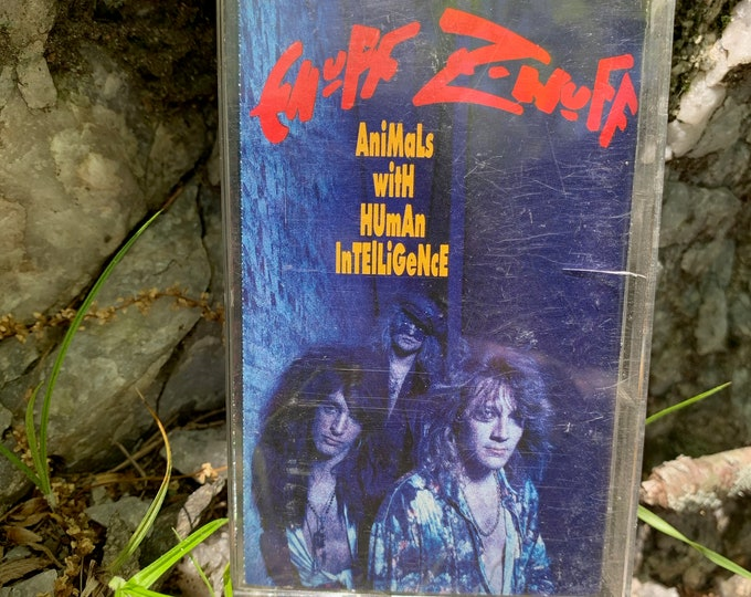 Enuff Z Nuff Animals with Human Intelligence Cassette Tape Motley Crue Tesla Lita Ford Quiet Riot Winger LA Guns Faster Pussycat Wasp Poison