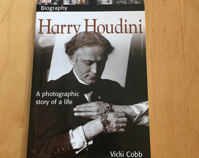 Harry Houdini - Softcover Book magician escape artist ouija paranormal Illusion Illusionist Magic Paranormal Clairvoyant Robert Houdin