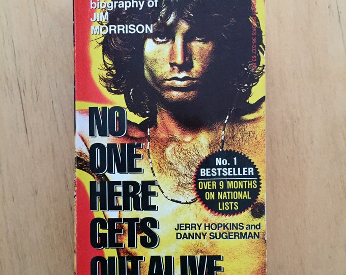 Vintage Jim Morrison Softcover Book 1980  No One Here Gets Out Alive the Doors Ray Manzarek Robby Krieger John Densmore LA Woman Lizard King