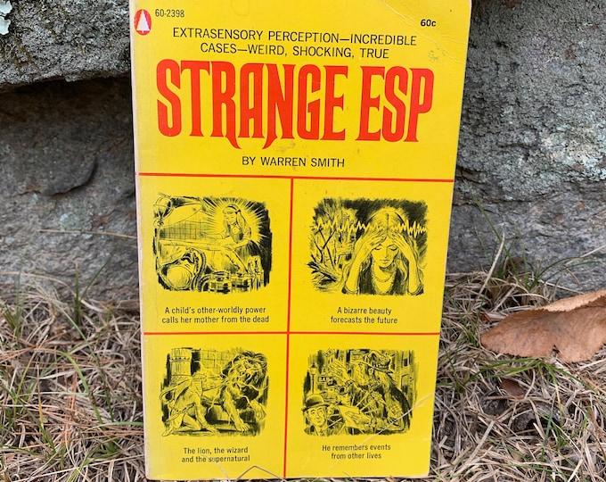 Vintage 1969 Strange ESP Softcover Book Astrology Psychic Clarvoyant Spiritual Healing Palmistry Fortune Teller Stars Witchcraft Afterlife