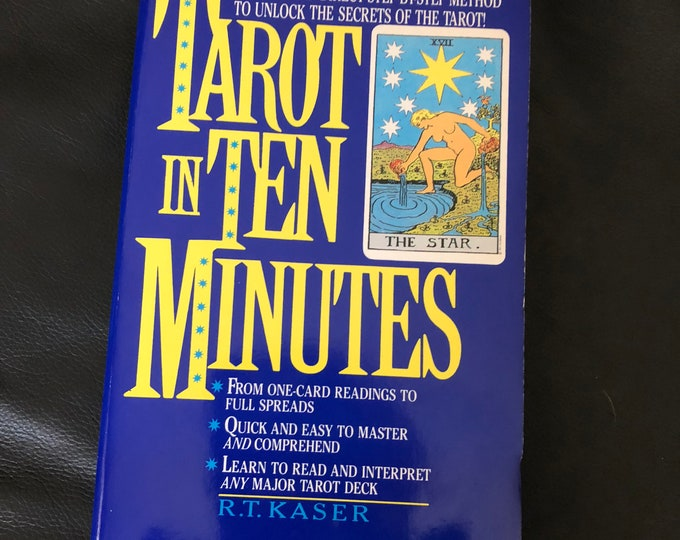 Vintage Tarot in Ten Minutes 1992 Softcover Book - Witch Horror Occult Palm Reading Psychic Gypsy Crystal Ball Tarot Cards Tarot Reading