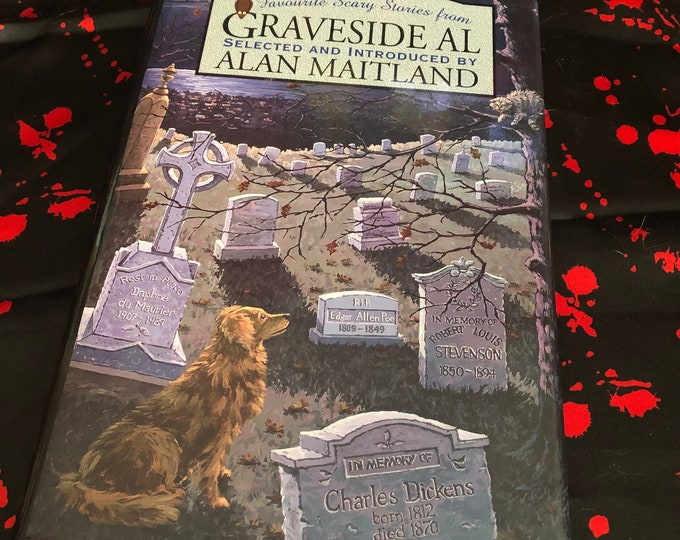 Vintage 1996 Graveside Al by Alan Maitland Hardcover Book Horror Ghost Stories - HP Lovecraft Hypnos Haunting Scary Terror Short Stories