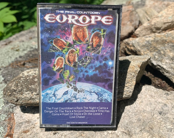 Vintage Europe The Final Countdown Cassette Tape Joey Tempest Firehouse Warrant White Lion Twisted Sister Whitesnake Winger Slaughter Keel