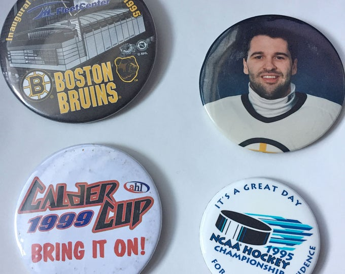 NHL Hockey pins NCAA ahl Boston Bruins calder cup pins pinbacks John Blue