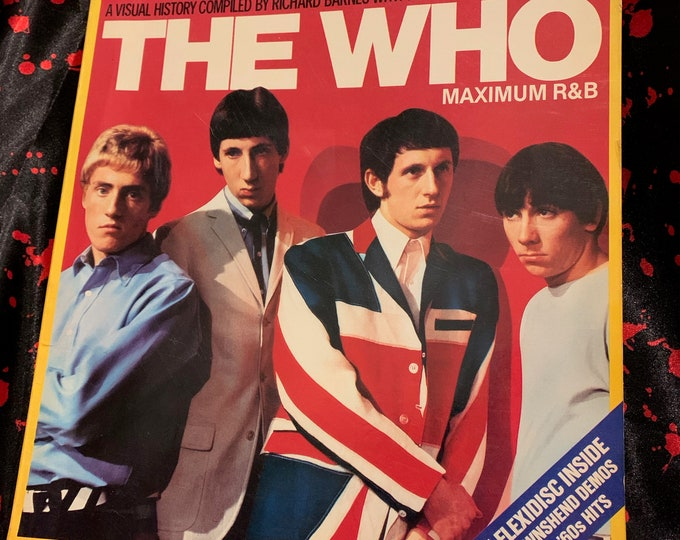 Vintage The WHO Maximum R&B Softcover Book 1982 Roger Daltrey The Beatles The Rolling Stones Jeff Beck Free Keith Moon Pete Townshend TOMMY