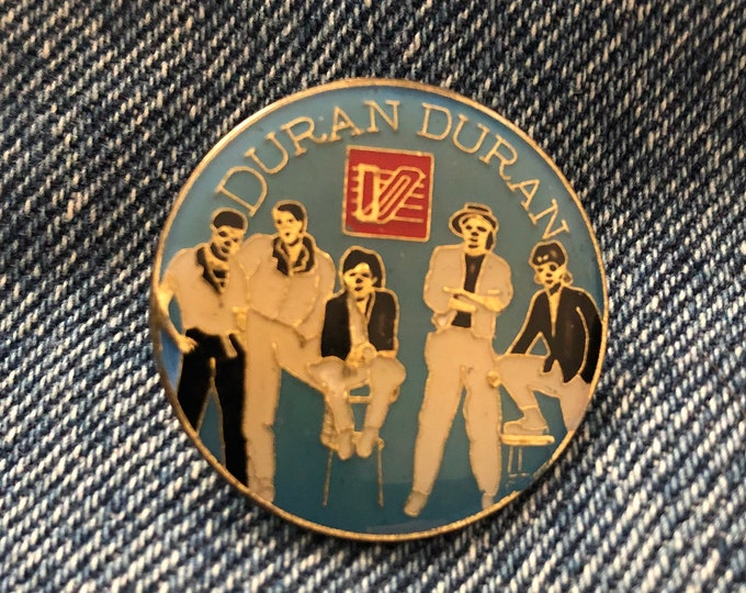 Vintage DURAN DURAN Pin Badge Pinback Collectibles Pins George Michael Pete Burns Culture Club Spandau Ballet Tears for Fears John Taylor