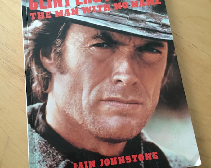 Vintage Clint Eastwood The Man with No Name Softcover Book - 1988 -  Dirty Harry Hang Em High Westerns Gunslinger Magnum Force The Enforcer
