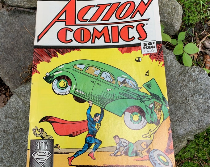 Vintage 1988 DC Comics RE-ISSUE of Action Comics June 1938  No 1 - Superman Comic Book Superhero Clark Kent Lois Lane Cosplayer Collectibles
