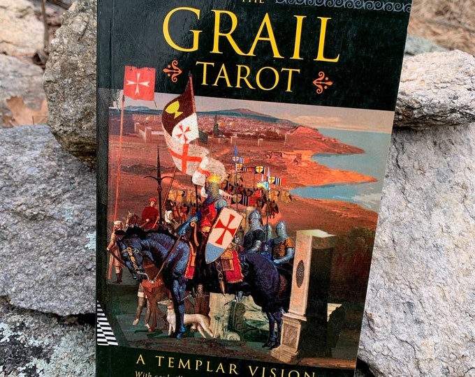 The Grail Tarot A Templar Vision Softcover Book Witch Occult Palm Reading Psychic Gypsy Crystal Ball Tarot Reading Gypsy Crystal Ball