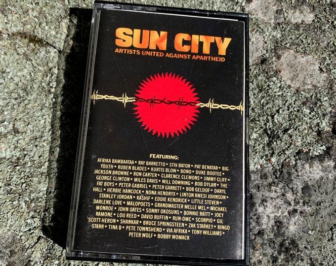 Vintage Sun City Apartheid Cassette Tape Joey Ramone Afrika Bambaataa Stiv Bator Pat Benatar Ruben Blades Kurtis Blow Jackson Browne U2 Bono