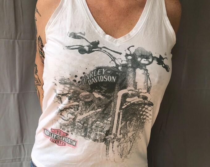 Sexy Harley Davidson Motorcycle Orlando Tank Top Motorcycle Tshirt Sz (Ladies L) biker bikers bikergirl motorcycles sportster skull skulls