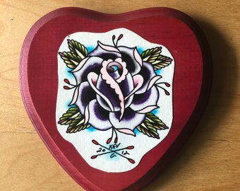 8d5c04d3b Original Watercolor Art Rose Painting mounted on Wood Crafts Art By Kev G  Heart Artist Tattoo Art Tattoo Flash Artwork Love Roses Tattoos