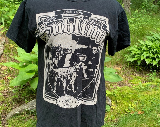 Sublime Lou Dog (M) Ska Pop Band Shirt Bradley Nowell Reefer No Doubt Slightly Stoopid Bad Fish Reel Big Fish Bob Marley Marijuana Dalmation