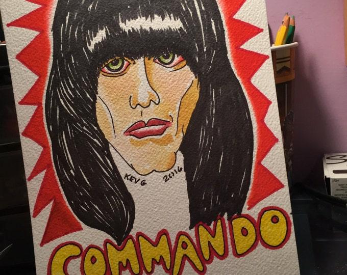 ORIGINAL Johnny Ramone Water Color Painting RAMONES  not a print REDUCED Art By Kev G