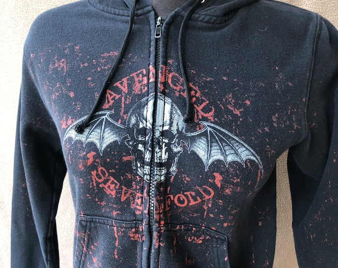 Avenged Sevenfold Woman's Small Zip Hoodie - Black and Red Hoody Matt Shadows Syn Gates Zacky Vengeance A7X The Rev Jimmy Sullivan FFDP