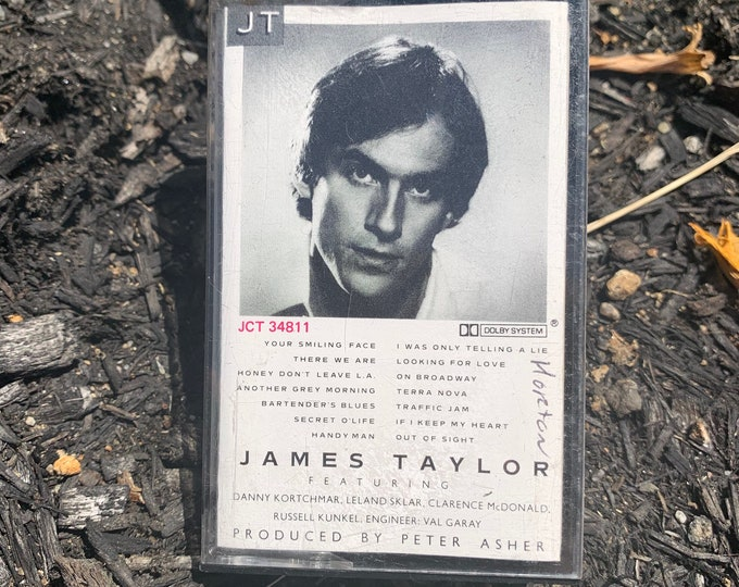 Vintage 1977 James Taylor JT Cassette Tape Carly Simon CSN John Denver Paul Simon Cat Stevens Boz Scaggs Joni Mitchell Van Morrison Bread