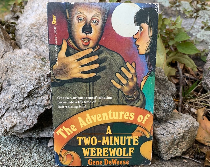 Vintage 1983 The Adventures of a Two Minute Werewolf Ghost Bats Softcover Book Occult Tarot Witchy Salem Coven Pagan Wolfman Vampire