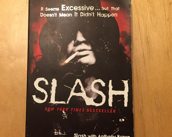 Slash Guns N Roses softcover Book - GNR Guitar Guitars Les Paul Guitarist Top Hat Velvet Revolver Stone Temple Pilots Soundgarden Nirvana