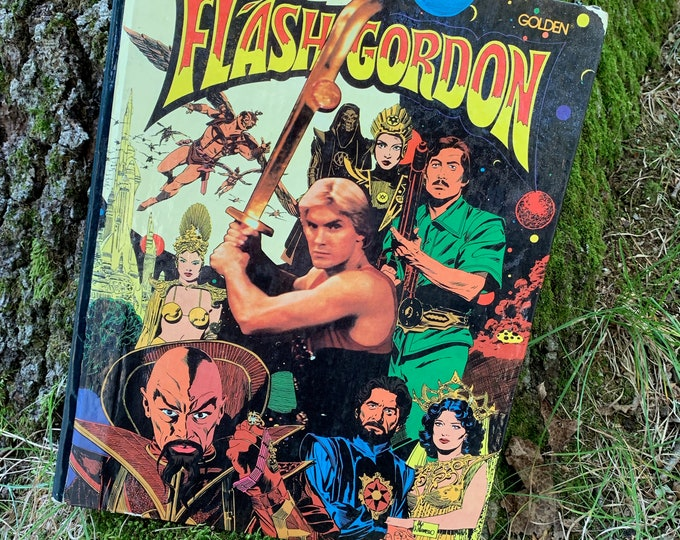 Vintage 1980 Flash Gordon The Movie Hardcover Book Comic Books Graphic Novel Buck Rogers The Rocketeer Barbarella Captain America Dan Dare