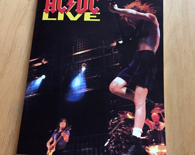 Vintage 1992 ACDC Live Guitar Tab - Sheet Music - Angus Young Malcolm Young Bon Scott Heavy Metal Metalhead Thunderstruck Back in Black