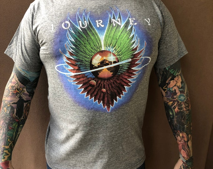 JOURNEY band shirt Size (M) Steve Perry Band Tee Arena Rock Arnel Pineda Neal Schon Aynsley Dunbar Prog Rock Styx Bon Jovi Foreigner Kansas