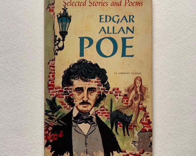 Vintage 1962 Edgar Allan Poe Selected Stories & Poems Terror Paperback Book Vincent Price Gothic Goth Poet Writer Novel Horror The Black Cat