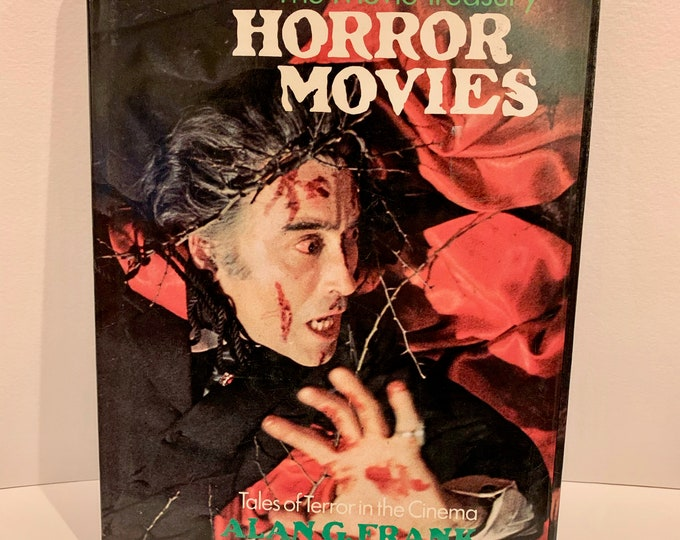 Vintage Horror Films Hardcover Book 1974 Horror Nosferatu Vampire Frankenstein The Mummy The Fly Boris Karloff Lon Chaney Bela Lugosi Ghost